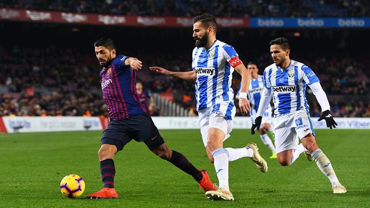 Un jugador del Leganés explota contra el VAR por el polémico gol de Luis Suárez