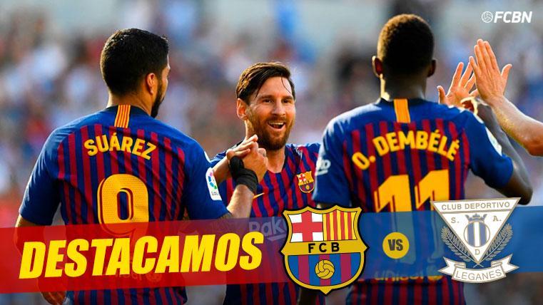 Messi, Suárez y Dembélé: el nuevo 'tridente' marca territorio