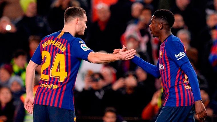 Vermaelen se convierte en un experto en reaparecer en el Barça con buenas sensaciones