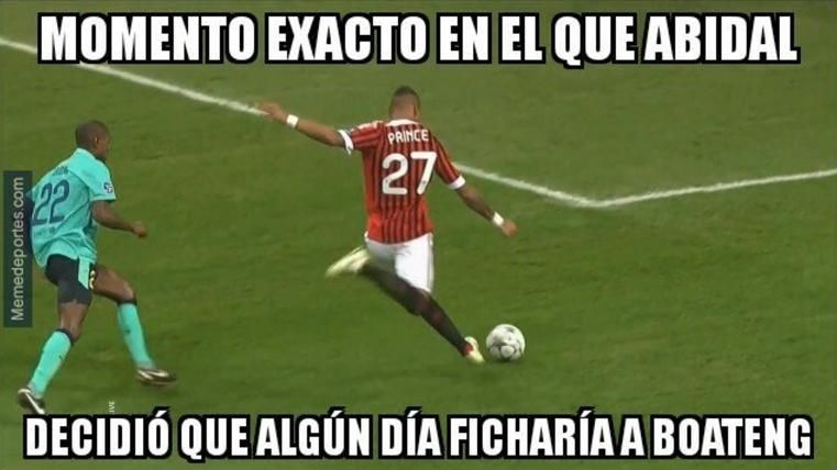 Estos son los mejores 'memes' del fichaje de Boateng por el Barça