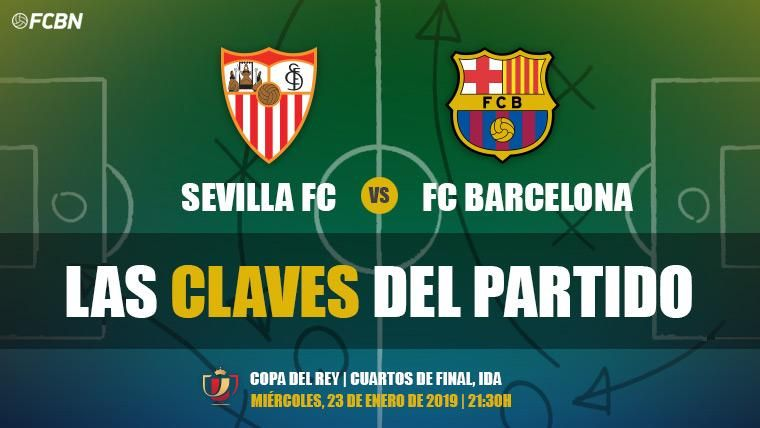 Las claves del Sevilla-FC Barcelona de la ida de cuartos de final de la Copa del Rey