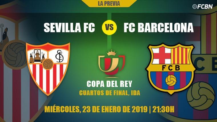 Un Barça sin Messi buscará encarrilar los cuartos de Copa en el Sánchez Pizjuán