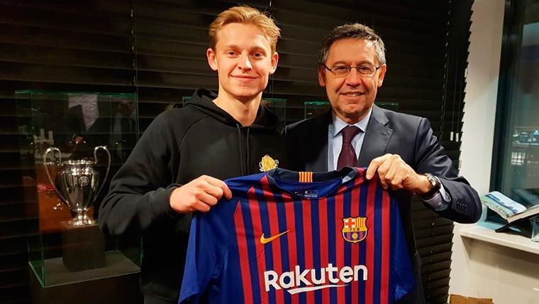 """El Barça, feliz: """"Con De Jong sumamos juventud y talento"""""""