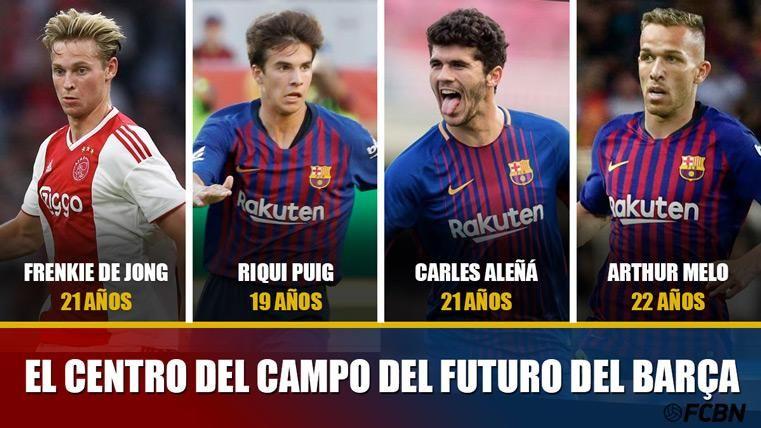 Póker de cracks para rejuvenecer el centro del campo del Barça