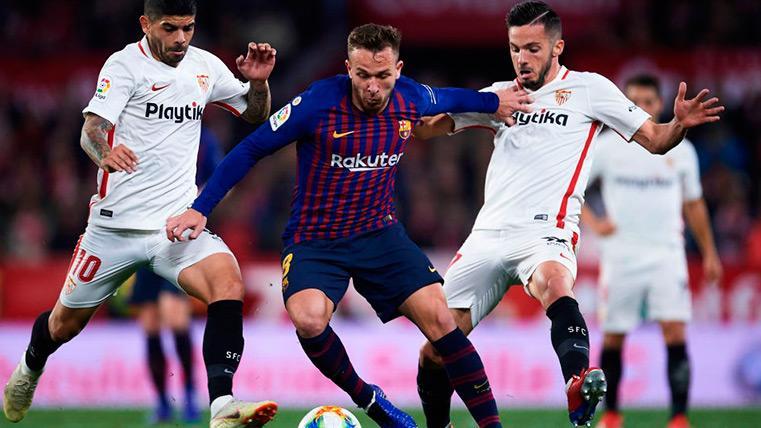 Los números del partidazo de Arthur contra el Sevilla