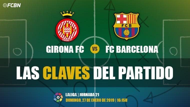 Las claves del Girona-FC Barcelona de LaLiga 2018-19