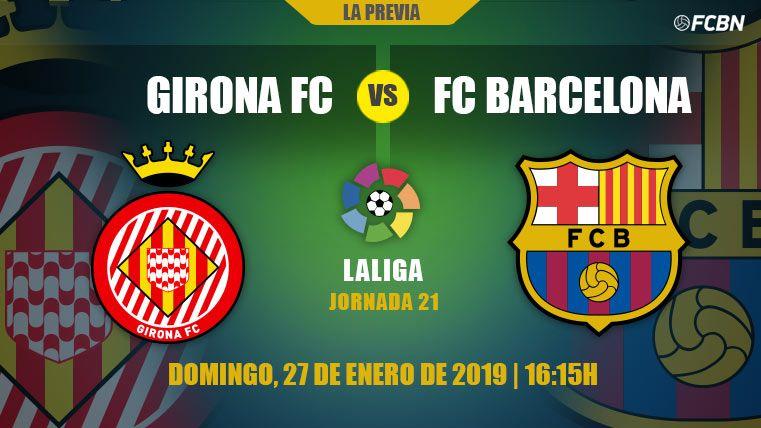 El Barcelona visita al Girona con un ojo en sus perseguidores y el otro en la Copa del Rey