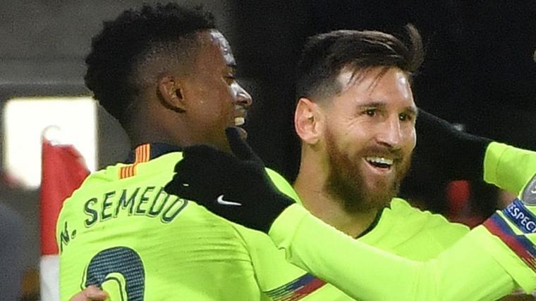 ¡Primer gol con el Barça! Semedo adelantó a los culés en Montilivi