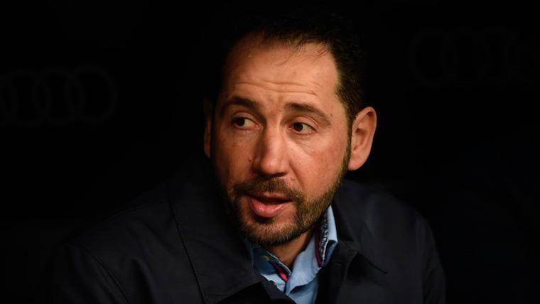 Pablo Machín 'espió' al Barça en Montilivi antes del viaje del Sevilla al Camp Nou