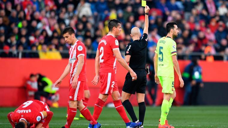 SANCIONADO: Sergio Busquets cumple ciclo de tarjetas y se perderá el Barça-Valencia