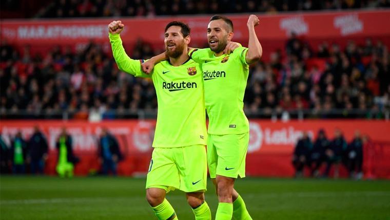 La pareja Alba-Messi volvió a dar alegrías en el Girona-Barça