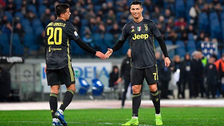 Cristiano Ronaldo, decisivo ante el Lazio con un Cancelo sobresaliente