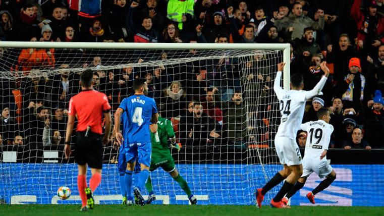 Vergonzosa tangana al terminar el Valencia vs Getafe