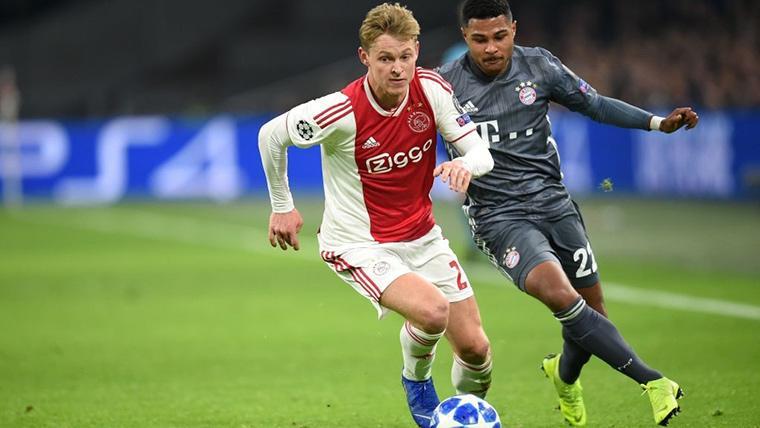 Frenkie de Jong, durante un partido con el Ajax de Amsterdam