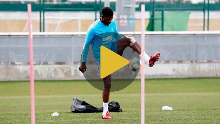 Samuel Umtiti ya toca balón: Su vuelta con el Barça, más cerca