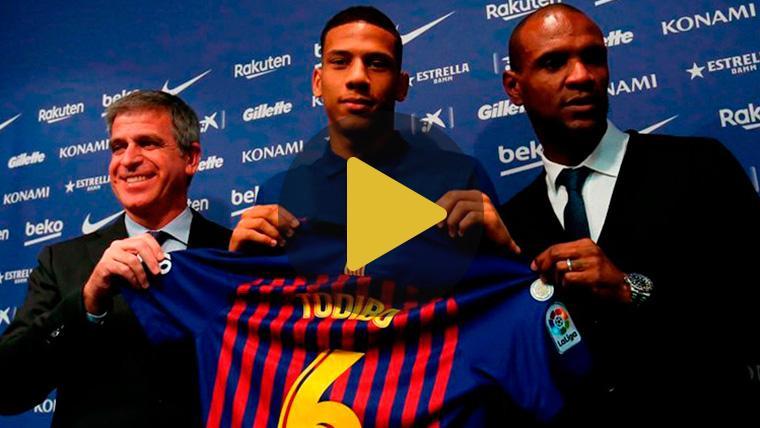 """Todibo, en su presentación: """"Jugar en el Barça es un sueño desde niño"""""""