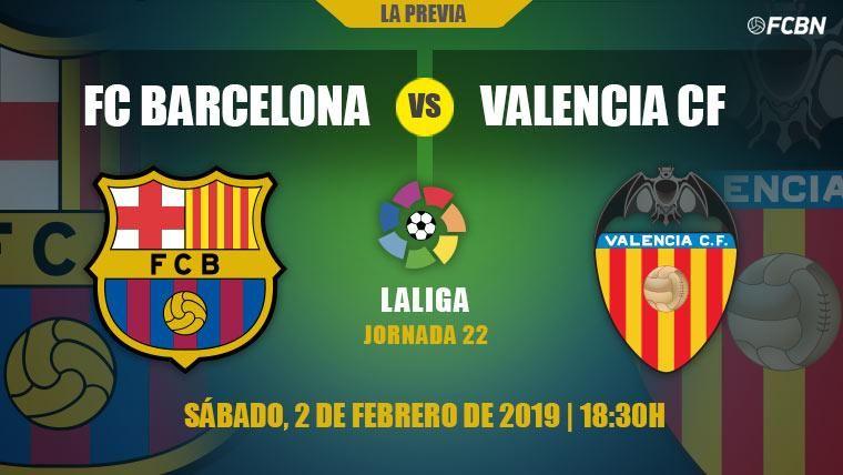 El Barça empieza el examen de febrero poniéndose a prueba contra el Valencia