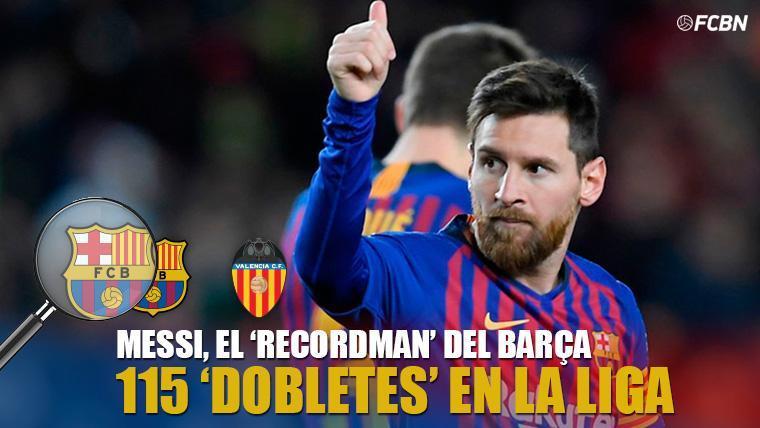 GENIO: ¡Golazo de Messi para empatar al Valencia y ya suma 115 'dobletes' en LaLiga!