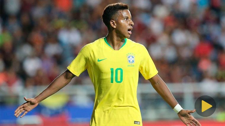 El madridista Rodrygo enloquece con una entrada salvaje en el Sudamericano Sub20
