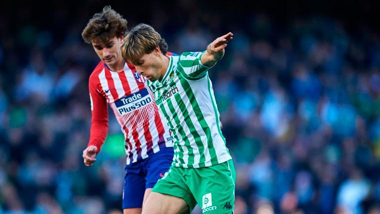 El Real Betis frena al Atlético de Madrid y aumenta la ventaja del Barça (1-0)