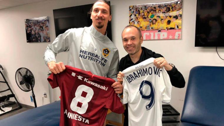 El reencuentro de Andrés Iniesta y Zlatan Ibrahimovic en Los Ángeles