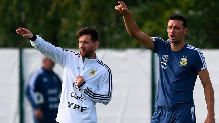 Lionel Scaloni and Leo Messi do not speak from does time