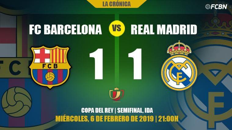 Malcom da vida al Barcelona ante el Madrid: el Bernabéu decidirá el finalista de Copa (1-1)