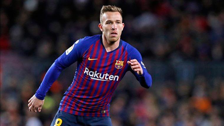 BAJA: El Barça pierde a Arthur un mes por una lesión muscular
