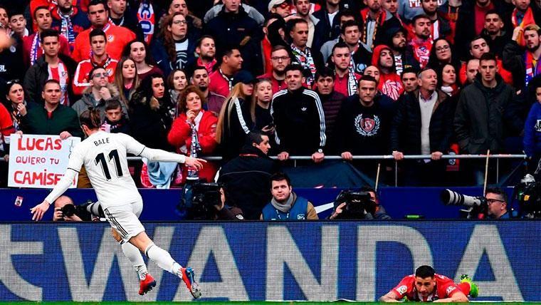 El feo gesto de Gareth Bale tras su gol ante el Atlético de Madrid