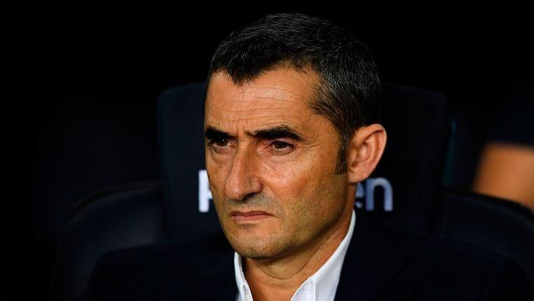 Ernesto Valverde, en el banquillo