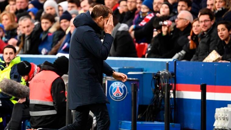 Thomas Tuchel en un partido del Paris Saint-Germain
