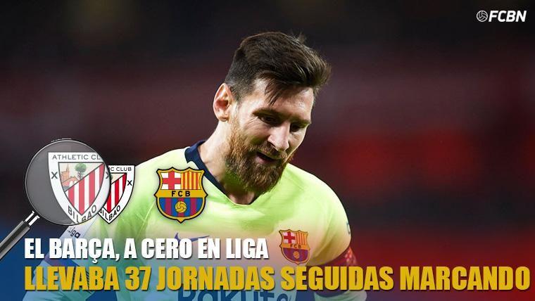 Leo Messi no pudo marcar ante el Athletic
