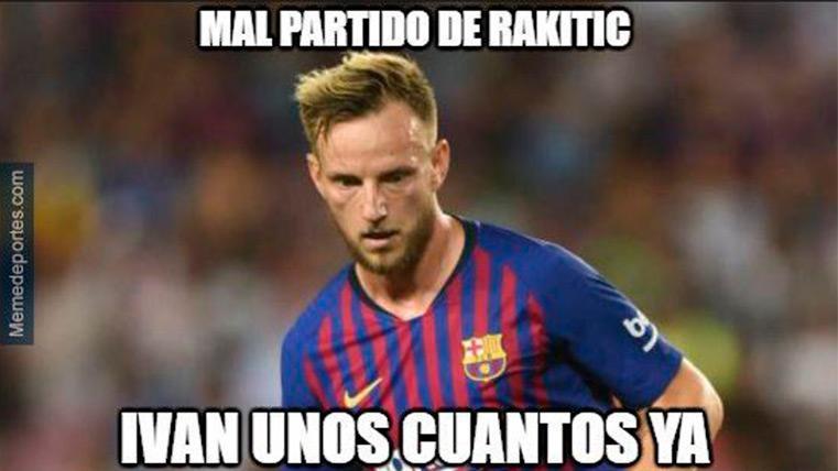 El 'meme' de Rakitic en el Athletic-Barça