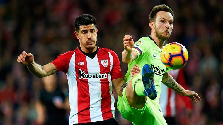 Rakitic habla del enfado de Messi por el juego duro del Athletic