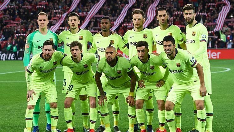 Alineación titular del FC Barcelona contra el Athletic de Bilbao
