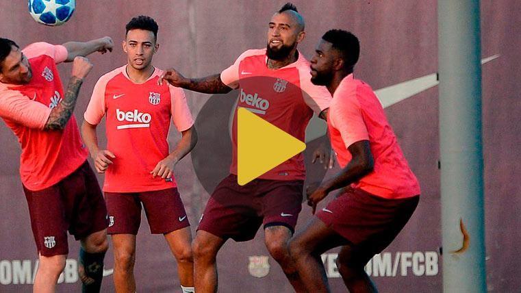 Samuel Umtiti vuelve a entrenarse con el grupo y ya ve la luz al final del túnel