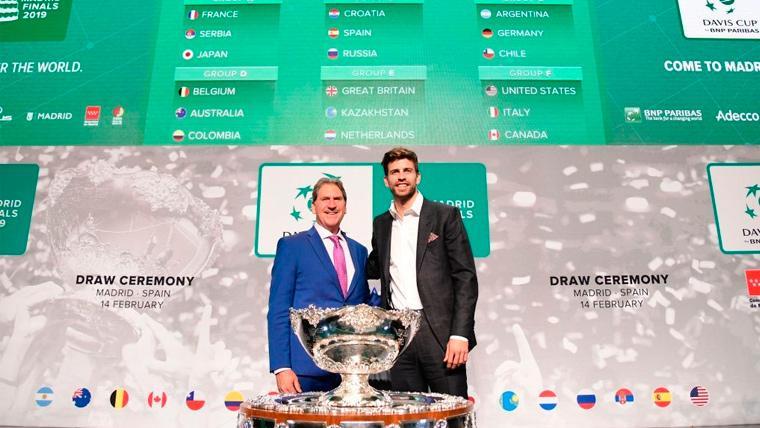 Piqué explica en el sorteo de la nueva Copa Davis su gran apuesta por el tenis