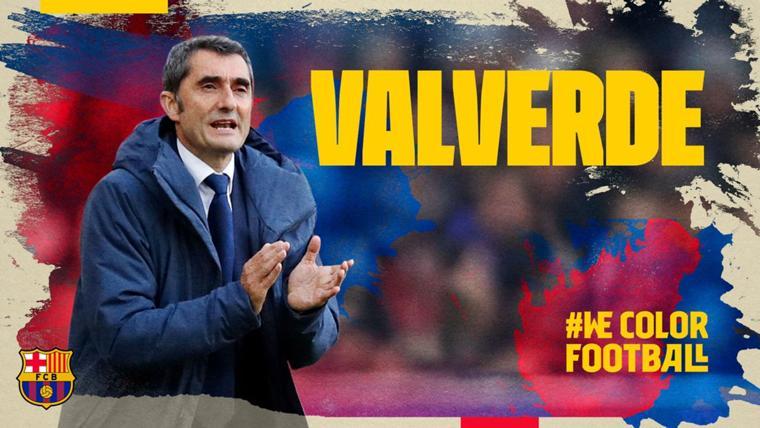 OFICIAL: El Barcelona anuncia la renovación de Ernesto Valverde