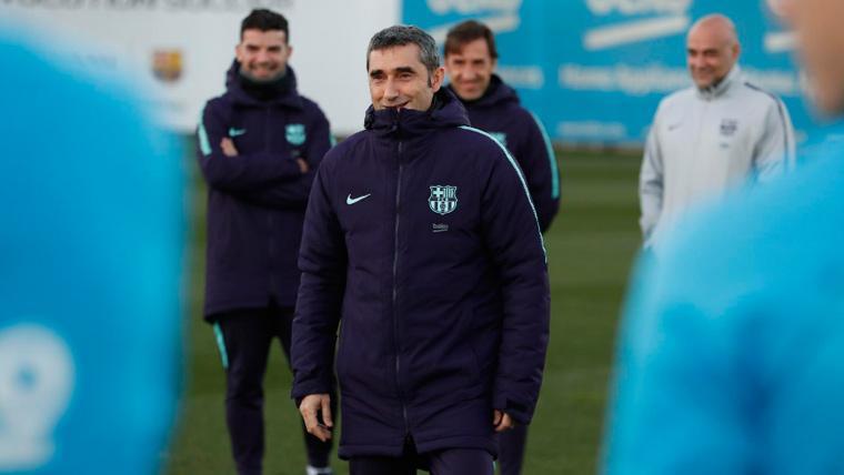 La reacción de los jugadores del Barça a la renovación de Valverde