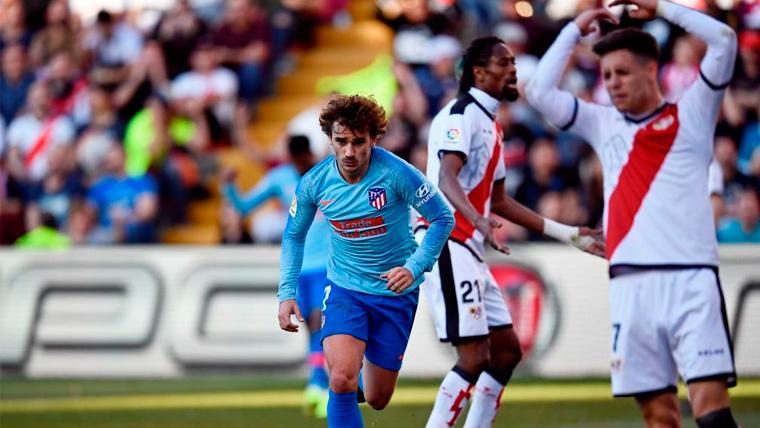 Un afortunado gol de Griezmann mantiene al Atlético en la lucha por LaLiga (0-1)