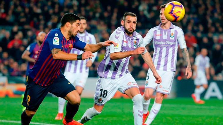 Luis Suárez pudo marcar un 'hat-trick' y se quedó a cero ante el Real Valladolid