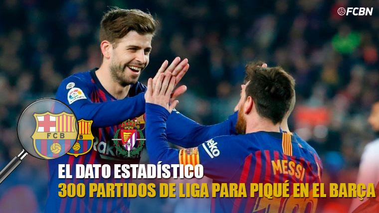 Gerard Piqué cumple 300 partidos de Liga con el FC Barcelona