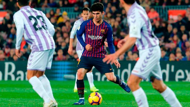 Carles Aleñá volvió a destacar contra el Valladolid y pide sitio en el FC Barcelona