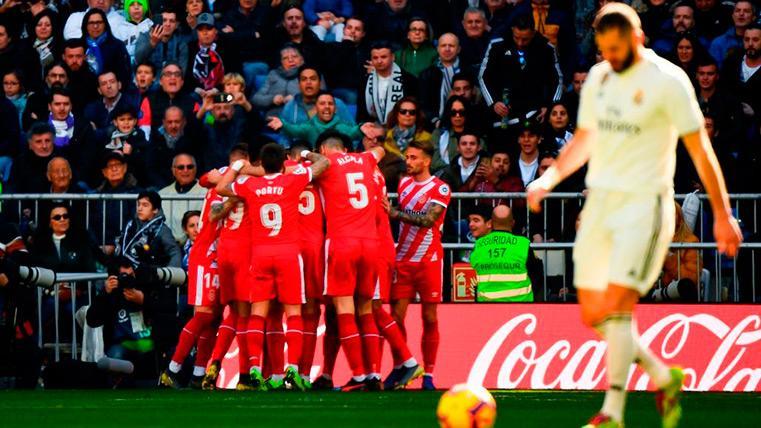 El Girona da la campanada en el Bernabéu y el Real Madrid dice adiós a LaLiga (1-2)