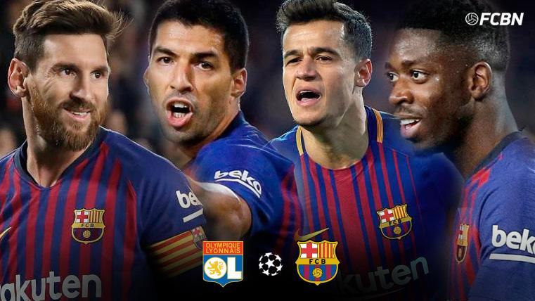Así llegan los 'cuatro fantásticos' del Barça para conquistar Lyon