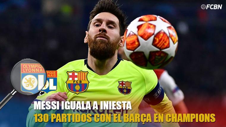 Messi iguala a Iniesta y recorta distancia a Xavi en Champions