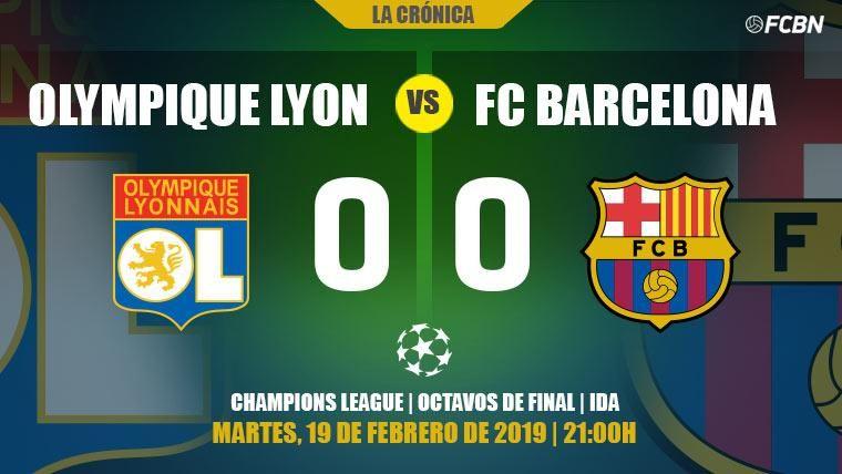 El Olympique de Lyon escapa vivo de un Barcelona sin puntería en Champions League (0-0)