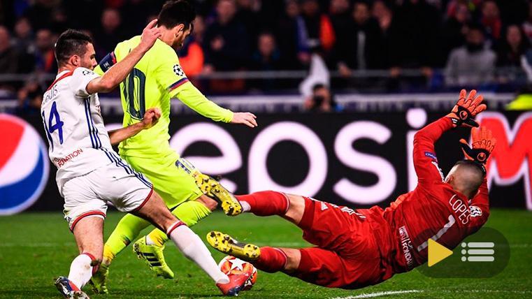 Vídeo resumen: Olympique Lyon 0 FC Barcelona 0 (Ida 1/8 Champions)
