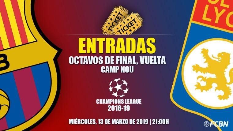 Entradas FC Barcelona vs Olympique Lyon - Champions League 2018-2019