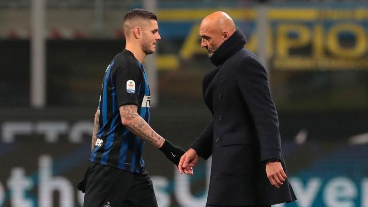 Spalletti vuelve a dar un toque de atención a Icardi pero no le cierra la puerta